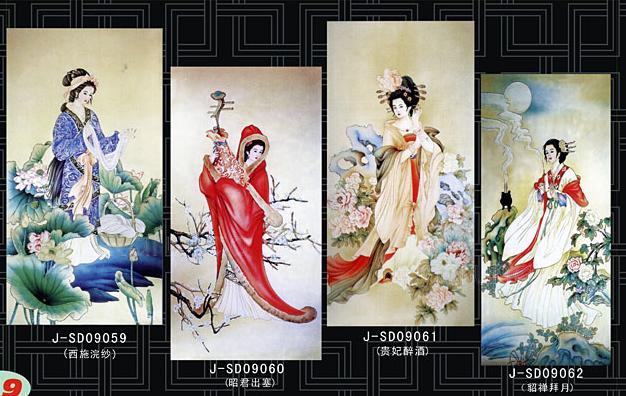 四大美人-浮雕系列-铜仁华辉玻璃产品分类